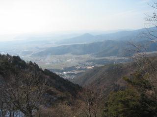 琵琶湖と小谷山