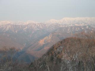 岐阜県境の山