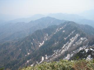 山頂から南