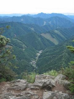 山頂から南東の眺め