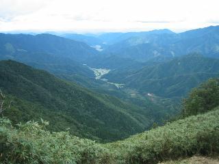 三室山から後山・日名倉山