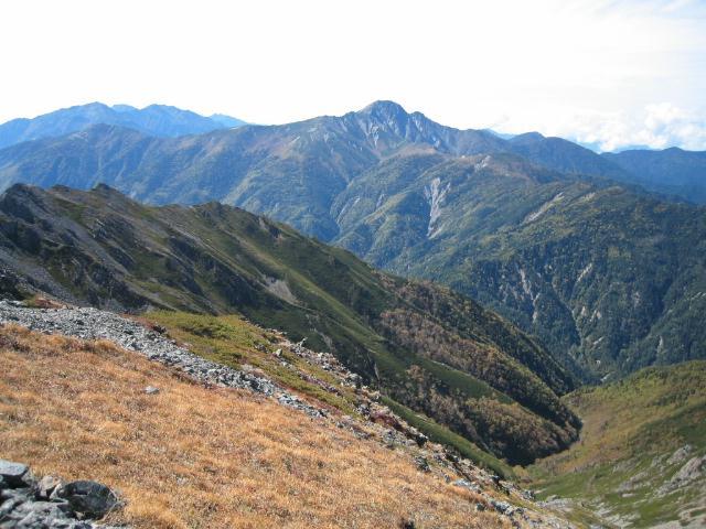 農鳥岳から塩見岳