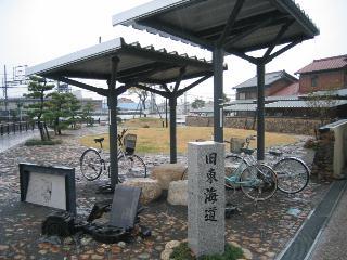伊勢朝日駅の自転車置場