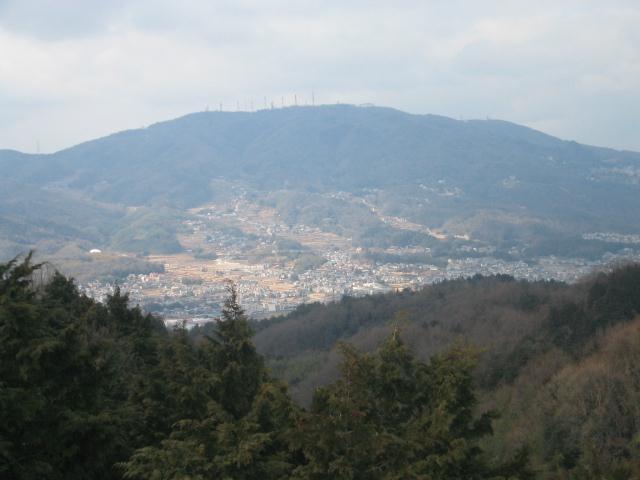 展望台から生駒山