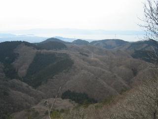 ザラノから琵琶湖を望む