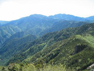 国師ヶ岳方面