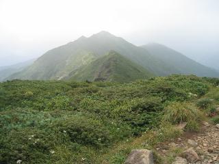 笠が岳方面