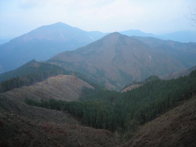 雲ヶ瀬山と高見山