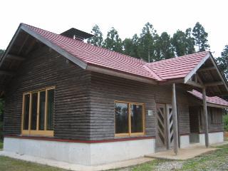 ログハウス風の小屋