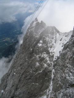 ツークシュピッツェの岩壁