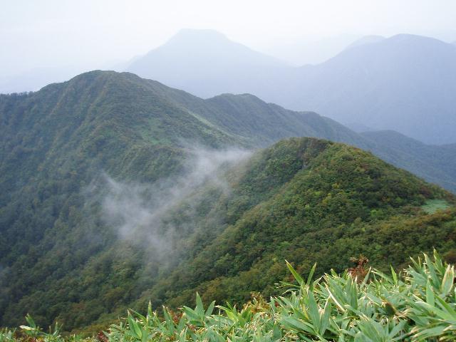面白山から南を望む