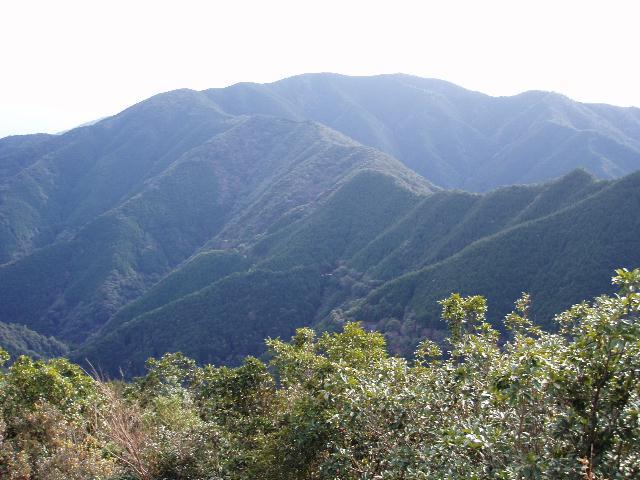 大河内山東峰から有地山