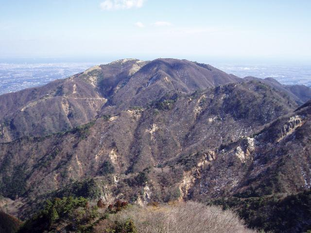 水沢岳より入道ヶ岳を望む