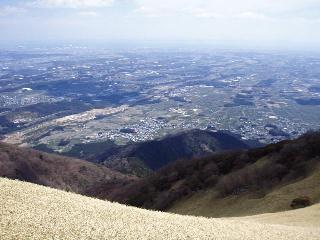 入道ヶ岳山頂から伊勢湾方面