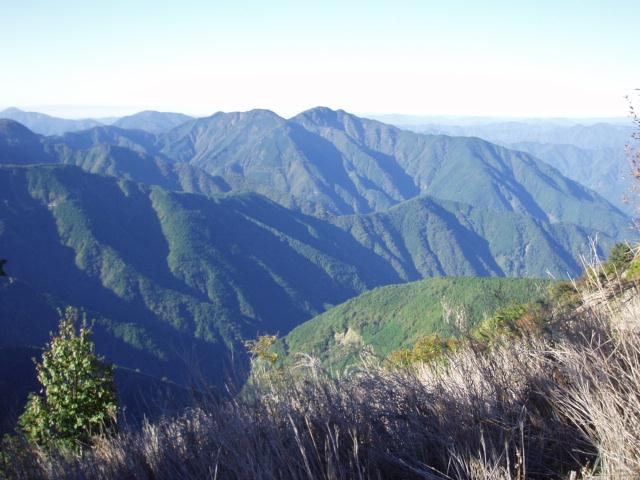 麻布山から常光寺山を望む