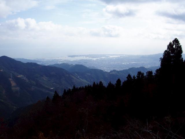 文殊岳から静岡市街方面