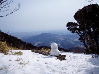 展望所の雪だるま