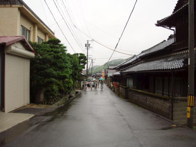 伊賀街道の長野宿