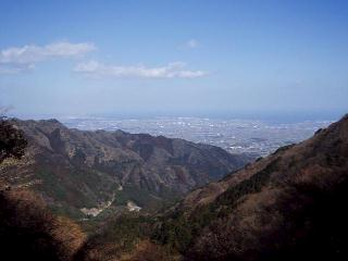 観音岳と津市街方面
