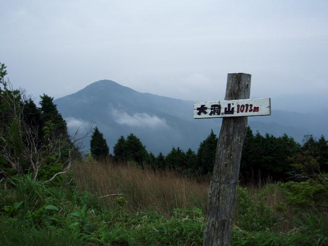 雄岳から伊賀富士を望む