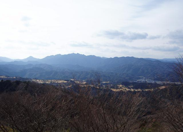 桝形山から矢頭山方面