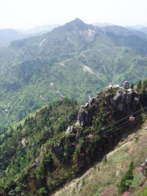 ゴンドラ・鎌ヶ岳・大黒岩・恵比寿岩を望む