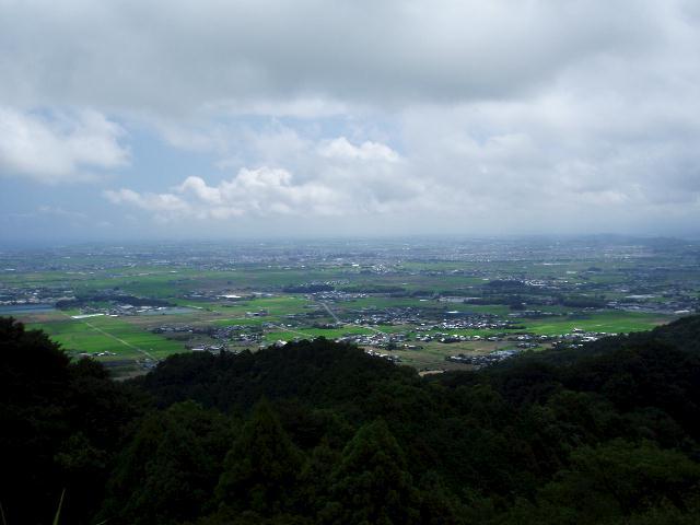 桝形山から松阪市街方面