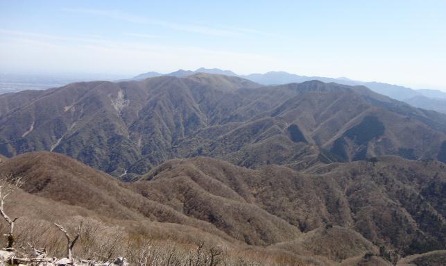 藤原岳から南