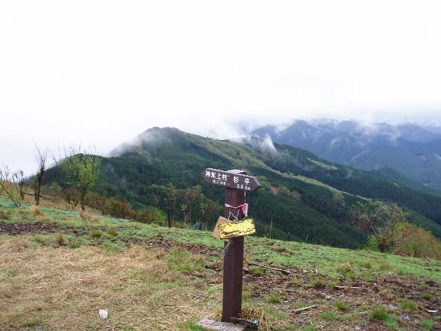 学能堂山から南の稜線を望む