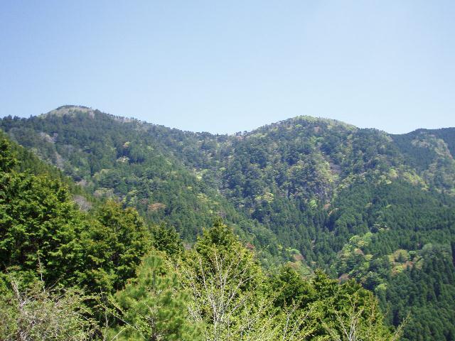 玉置山を望む