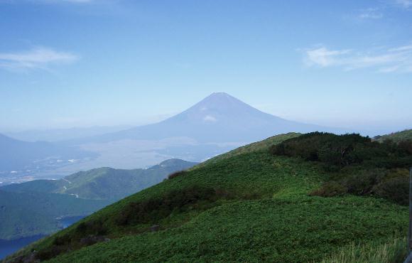 駒ケ岳から富士山を望む