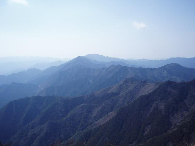 栗の木岳方面