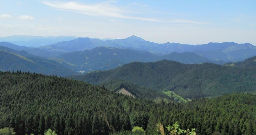 高見山方面を望む