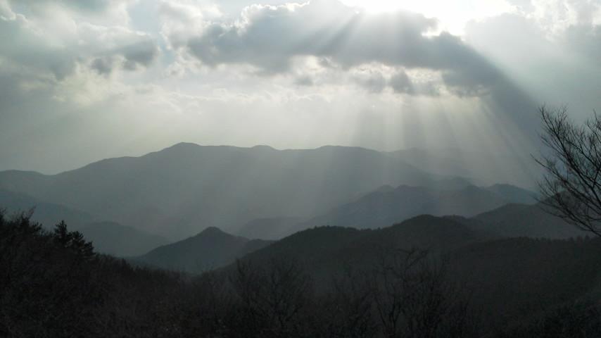 堀坂山から白猪山方面